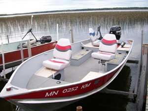 Rent Balsam Beach Resort's 16ft lund fishing boat.