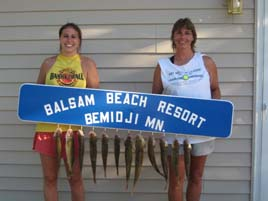 Another full stringer of fish caught at Balsam Beach Resort.