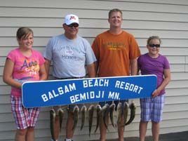 Nice fish caught at Balsam Beach Resort in Bemidji, MN.