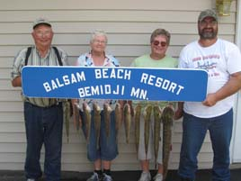 Great fishing in Northern Minnesota at Balsam Beach Resort.