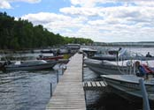 Launch your boat from Balsam Beach's dock. Gasoline on site.