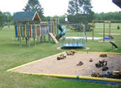 Let the kids enjoy the park provided for Balsam Beach Resort guests.