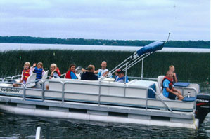 Rent a pontoon from Balsam Beach Resort during your stay.