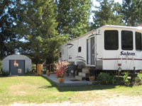 TV Camping sites are available at Balsam beach Resort Bemidji, MN.