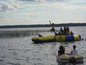 Adults and kids alike can enjoy all of the lake fun at Balsam Beach Resort in Bemidji, MN.